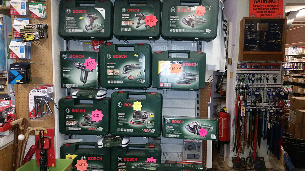 Bosch Power Tools- Hardware Shop Shropshire