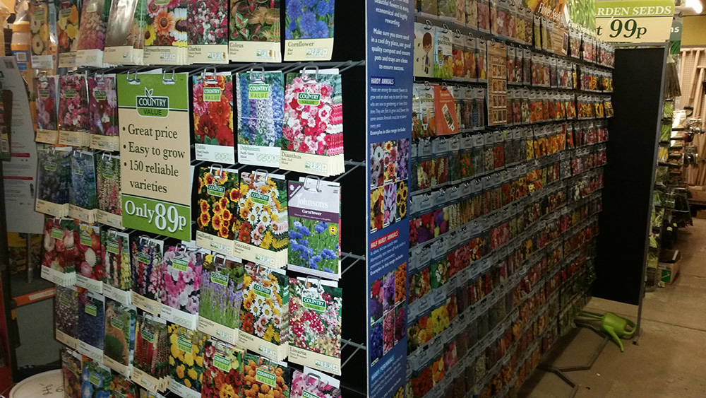 Flower and Vegetable Seeds - Hardware Shop Shropshire